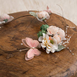 Blush Pink Ivory Flower Crown Maternity Crown Wedding Flower Crown Maternity Wreaths - Don&Judy Newborn&Maternity photography props