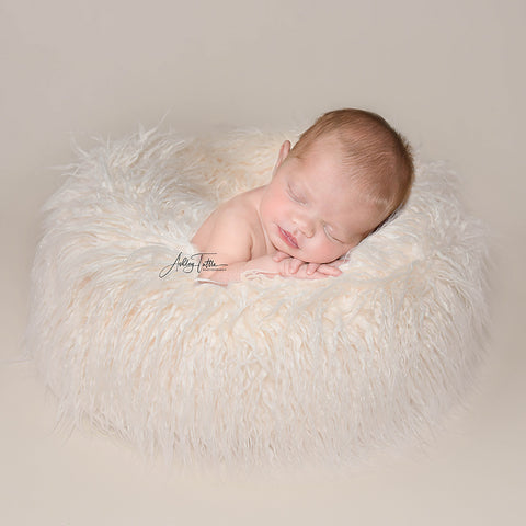 Newborn Faux Fur Wheel Newborn Donut Prop Newborn Posing Prop Circle Newborn Photo Props - Don&Judy Newborn&Maternity photography props