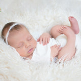 D&J Newborn Baby Rompers Lotus leaf Sleeve Infant Rompers Stretch Baby Rompers Newborn Photo Props - Don&Judy Newborn&Maternity photography props