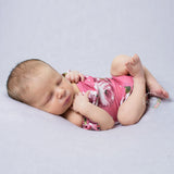 Stretch Soft Newborn floral romper with lotus leaf collar Newborn Photography Props - Don&Judy Newborn&Maternity photography props