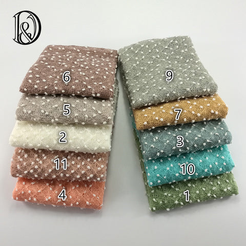 Stretchy Newborn Wraps Knitted White Dot Fabric Newborn Wrap Prop Newborn Photo Props 75*50cm - Don&Judy Newborn&Maternity photography props