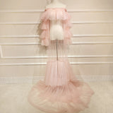 Handcraft Tulle Maternity Dress for Photography Maternity Gown One size fit all Maternity Lady