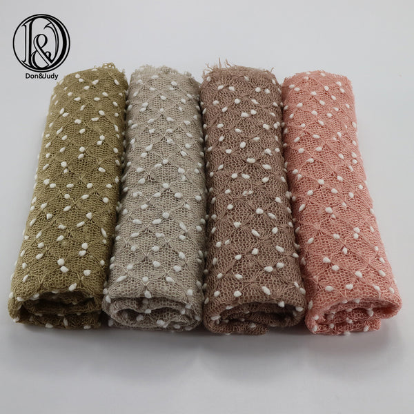 White Dot Fabric Newborn Wraps Knitted Newborn Wraps Prop Newborn Photo Props 75*50cm 4pcs/ lot - Don&Judy Newborn&Maternity photography props