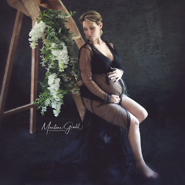 Maternity Tulle Dress for Photoshoot Maternity Tulle Robe Maternity Photo Prop Maternity Boudoir