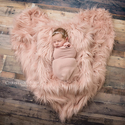 Clearance Natural Faux Fur Newborn Blanket Backdrop Newborn Photo Props Blanket 150x100cm - Don&Judy Newborn&Maternity photography props