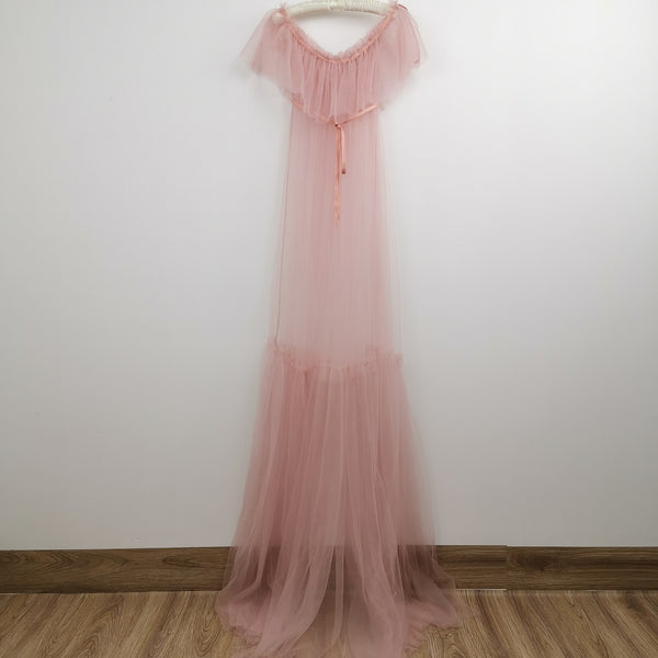 Soft Tulle Maternity Photography Dress Pregnant Gown One size fit all accept customize Maternity Photography Gown