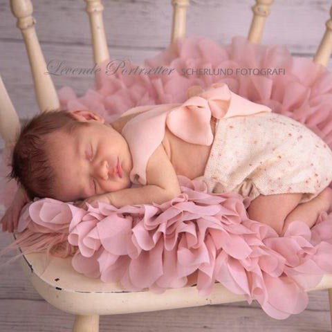 (Diameter=49~50cm) Flower Style Mat Soft Chiffon Cushion Photography Baby Props Newborn Photographic Newborn Props - Don&Judy Newborn&Maternity photography props