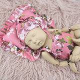 New Arrival! Newborn Baby Sets Outfits Five-piec Set with Backdrops Wraps Pillow Hats and Baby Romper - Don&Judy Newborn&Maternity photography props