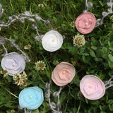 (6pcs/lot) Mix Color Handcraft Chiffon Flower With Pearl Mohair Belt Baby Gril Photography Props Baby Shower Newborn Photo Props - Don&Judy Newborn&Maternity photography props