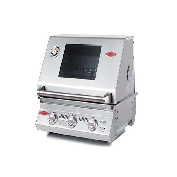 Beefeater Signature S3000SS Series - 3 Burner BBQ and Window Hood with Stainless steel Cook Pack 12830S