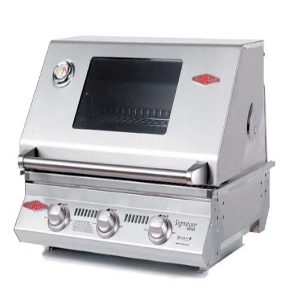 Beefeater Signature S3000s Series - 3 Burner Bbq and window Hood with Cast Iron Cook Pack 12830
