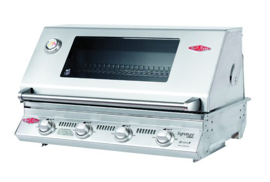 Beefeater Signature S3000S Series - 4 Burner BBQ and window Hood with Cast Iron Cook Pack 12840