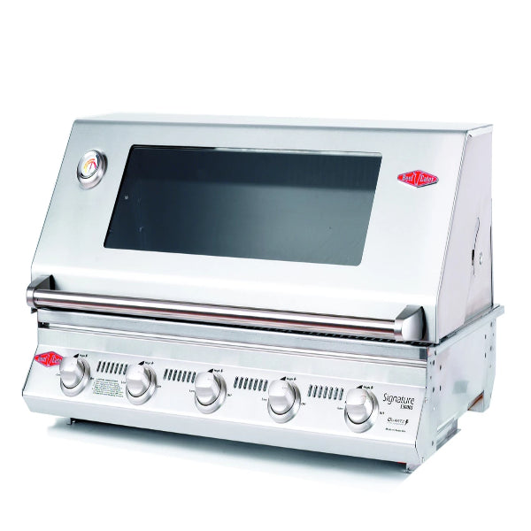 Beefeater Signature S3000S Series - 5 Burner BBQ and window Hood with Cast Iron Cook Pack 12850
