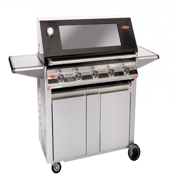 Beefeater Signature 3000E 5 Burner; Glass Hood; Stainless Steel Designer Trolley 19252