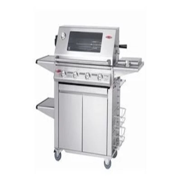 "Beefeater Signature 3000S 4 Burner Mobile Burner Bbq Stainless Steel; Glass Hood; Stainless Steel ""Plus"" Trolley with Side Burner BS19750"