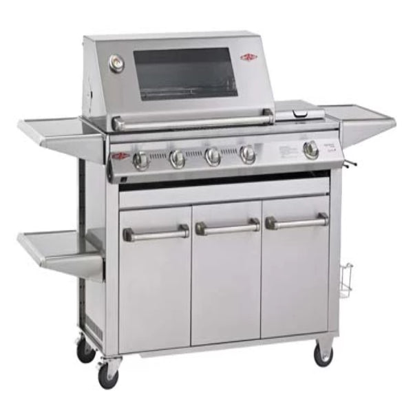 Beefeater Signatur SL4000S - 5 Burner Bbq Stainless Steel; Glass Hood; Premium Stainless Drawer Trolley & Side Burner 30050