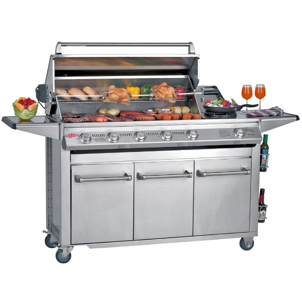 Beefeater Signatur SL4000S - 6 Burner Bbq Stainless Steel; Glass Hood; Premium Stainless Drawer Trolley & Side Burner 30060