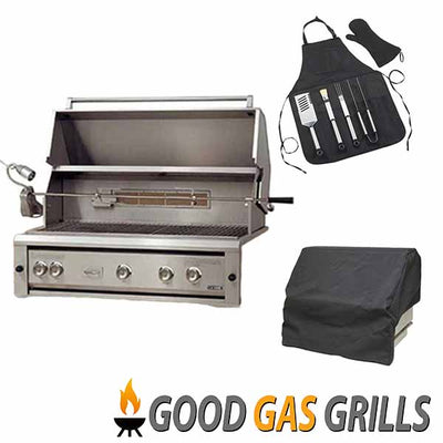 "Natural Gas Grill Luxor 42"" Built-in with Rotisserie AHT-42RCV-L-BI-NG"