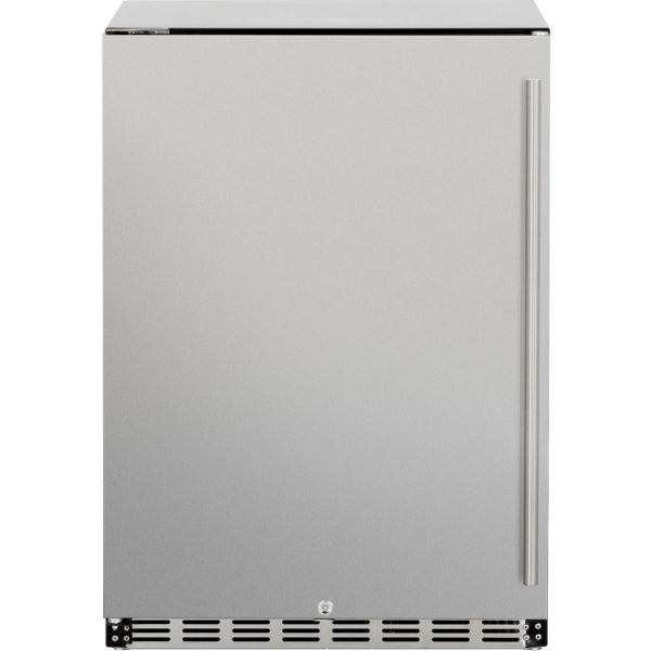 "Summerset  Refrigerator, 24"" Deluxe Outdoor Rated - 5.3ft3 - Right-to-Left Opening-SSRFR-24DR"