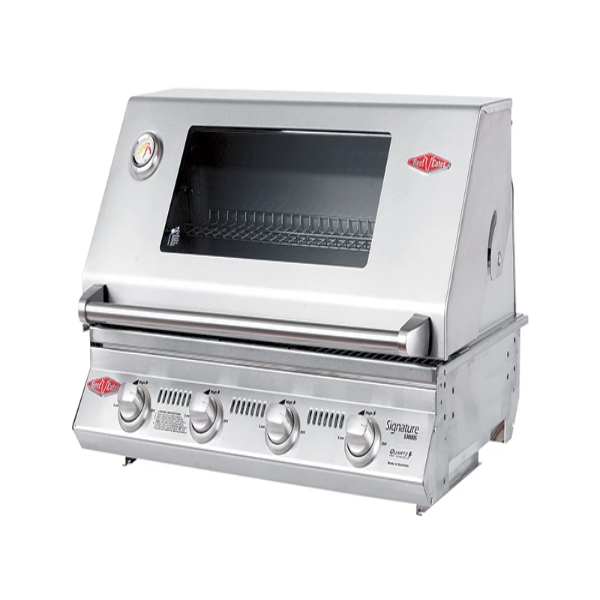 Beefeater Signature S3000SS Series - 4 Burner BBQ and Window Hood with Stainless steel Cook Pack 12840S