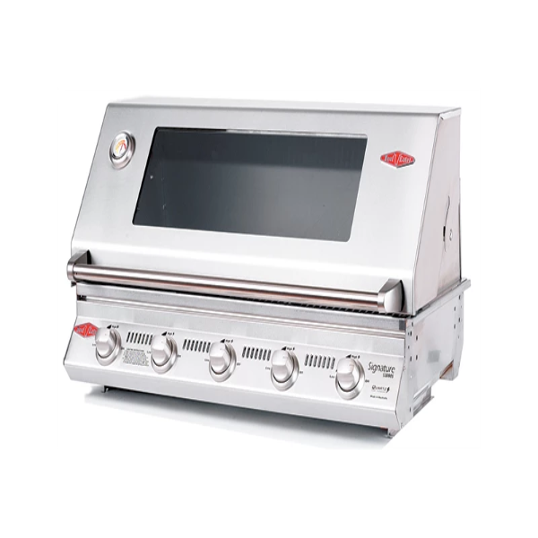 Beefeater Signature S3000SS Series - 5 Burner BBQ and Window Hood with Stainless steel Cook Pack 12850S
