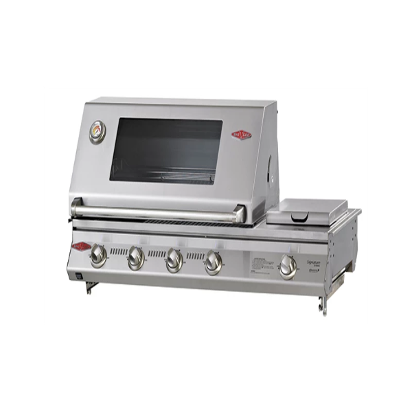 Beefeater Signature SL4000S Series - 6 Burner BBQ and Window Hood with Stainless steel Cook Pack 31660