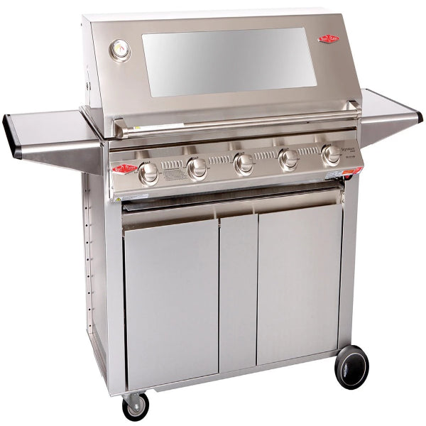 Beefeater Signature 3000S 5 Burner Mobile Barbecue  Glass Hood SS Designer Trolly BS19340