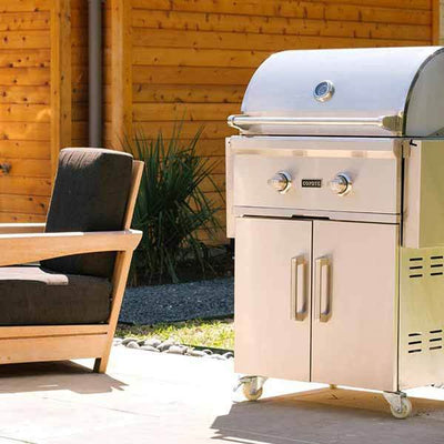 "Outdoor Grill Coyote C-Series 28"" Freestanding 2 Burner on Natural Gas C1C28NGFS"