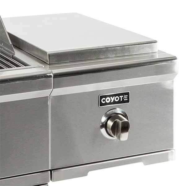 Single Burner Coyote Stainless Steel C-Series Cart Mounted in Propane Gas C1CSBLP