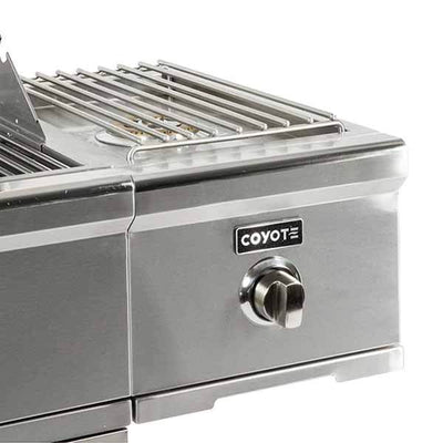 Single Burner Coyote Stainless Steel C-Series Cart Mounted on Natural Gas C1CSBNG