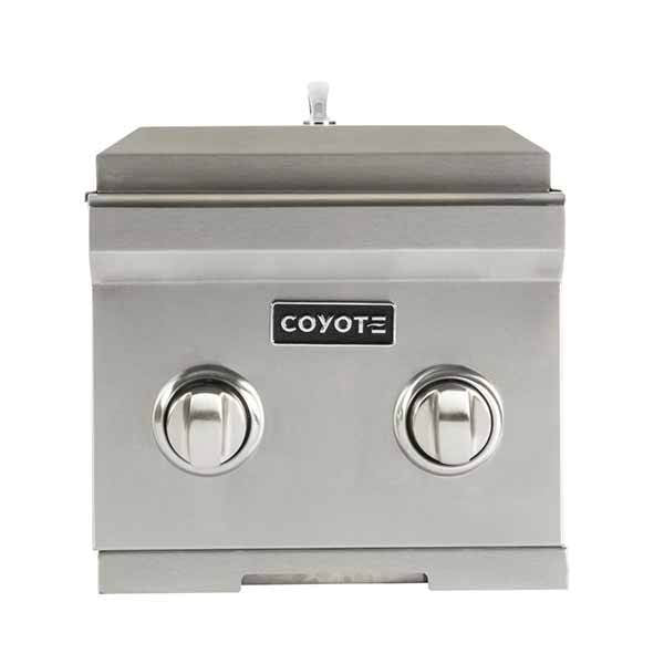 Double Burner Coyote Stainless Steel Built-in on Propane Gas C1DBLP