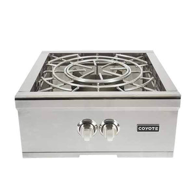 Power Burner Coyote Stainless Steel Built-in on Natural Gas C1PBNG