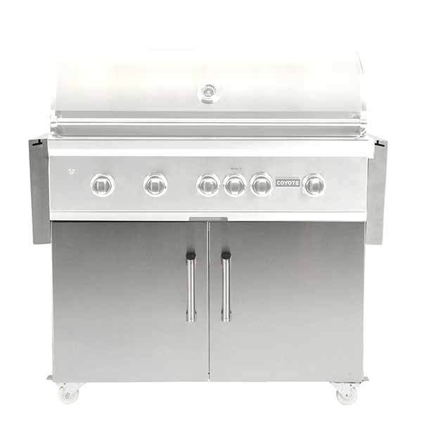 "Grill Cart Coyote Stainless Steel Suitable for 42"" Gas Grills C1S42CT"