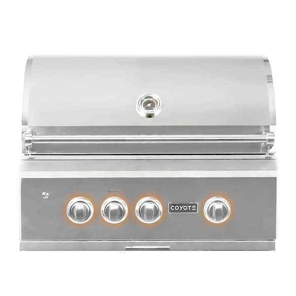 "Outdoor Grill Coyote S-Series 30"" Built-in 3 Burner on Natural Gas  w/RapidSear Infrared Burner & Rotisserie C2SL30NG"