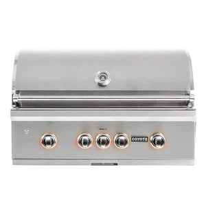 "Outdoor Grill Coyote S-Series 36"" Built-in 4 Burner on Propane Gas w/RapidSear Infrared Burner & Rotisserie C2SL36LP"