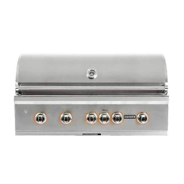 "Outdoor Grill Coyote S-Series 42"" Built-in Natural Gas Grill w/RapidSear Infrared Burner & Rotisserie C2SL42NG"