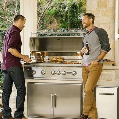 "Outdoor Grill Coyote S-Series 42"" Built-in Propane Gas Grill with RapidSear Infrared Burner & Rotisserie C2SL42LP"