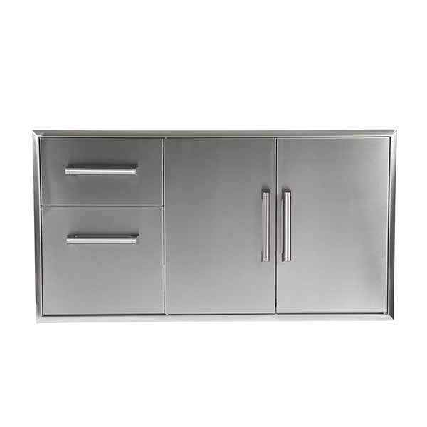 "Outdoor Kitchen Coyote 45"" Stainless Steel Double Access Door And Access Drawer Combo CCD2DC"