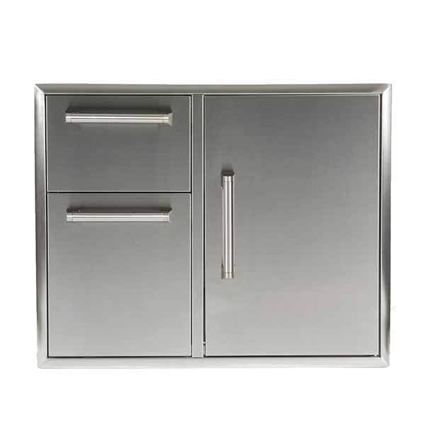 "Outdoor Kitchen Coyote 31"" Stainless Steel Access Door and Double Drawer Combo CCD-2DC31"