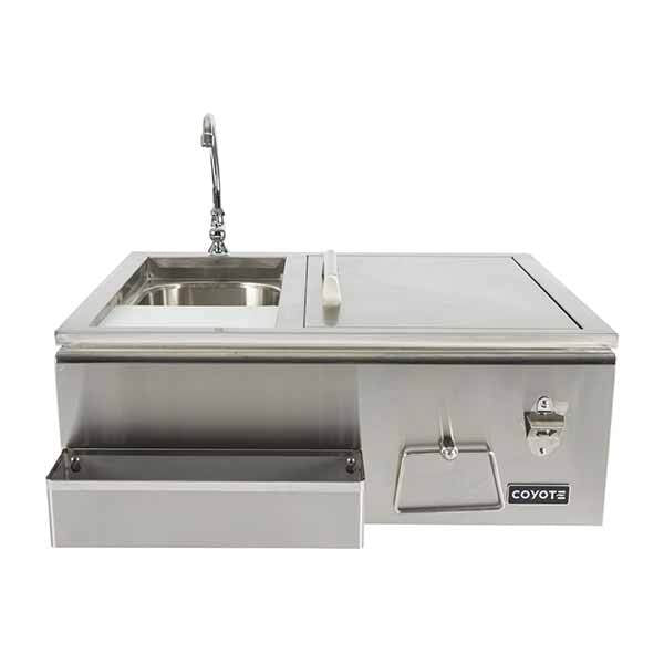 "Outdoor Sink Coyote 30"" Stainless Steel Built-in Refreshment Center CRC"