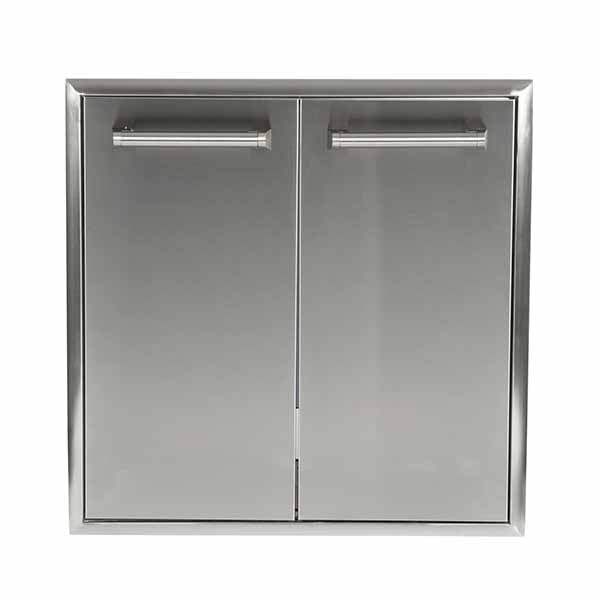 "Outdoor Kitchen Coyote 26"" Stainless Steel Roll-out Double Trash and Recycling Bin CTC"