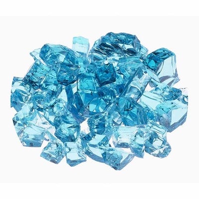 "Athena 1/2"" Calypso Light Blue Reflective Fire Glass For Fireplaces and Fire Pits RFG-10-CB"
