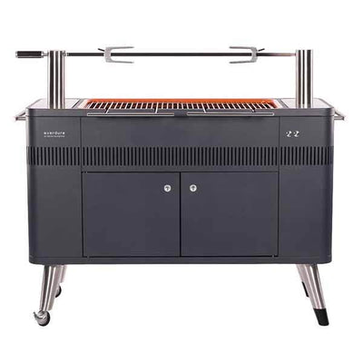 "Everdure 54"" Charcoal Grill Hub With Rotisserie & Electronic Ignition HBCE2BUS"