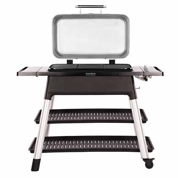 "Everdure 52"" Propane Grill Orange Furnace 3 Burner With Stand HBG3OUS"