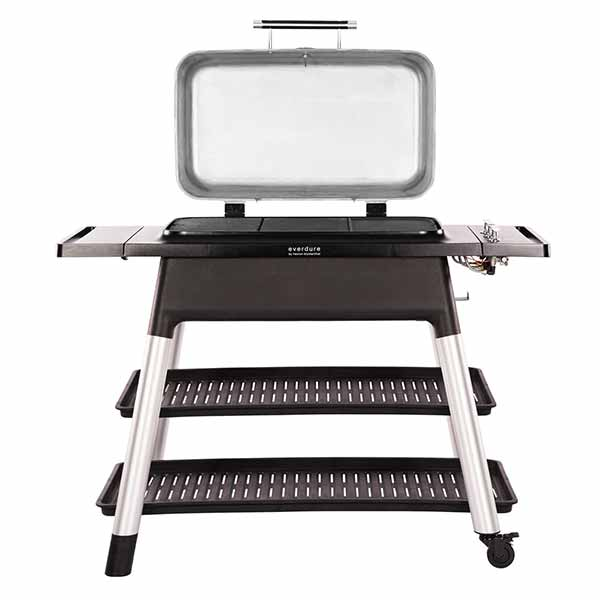"Everdure 52"" Propane Grill Stone Furnace 3 Burner With Stand HBG3SUS"