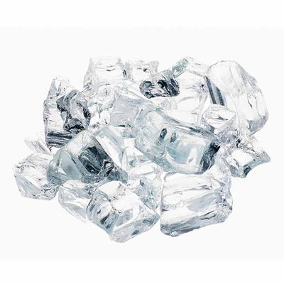"Athena 1/2"" Krystallo Diamond Reflective Fire Glass For Fireplaces and Fire Pits RFG-10-KD"