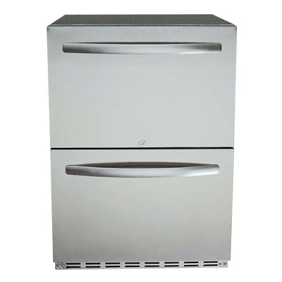 "RCS 24"" 5.2 cu. ft. UL Rated Dual Drawer Compact Refrigerator REFR4"