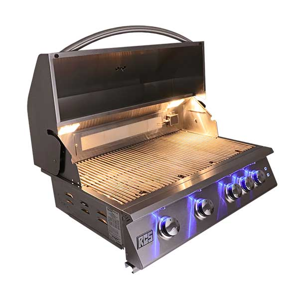 Rcs Premier Series 32 4 Burner Built In Natural Gas Grill With Led Li Good Gas Grills