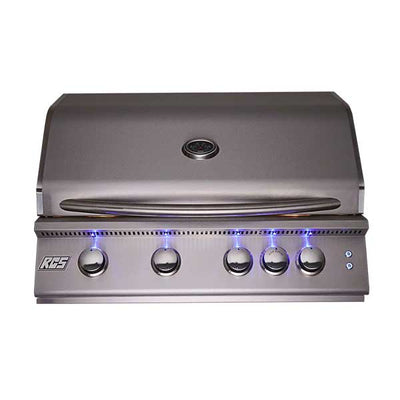 "RCS Premier Series 40"" 5 Burner Built-in Propane Gas Grill With LED Lights RJC40ALLP"