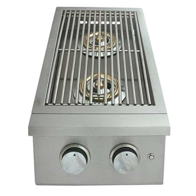 RCS Premier Series Built-in Liquid Propane Gas Double Side Burner with LED Lights RJCSSBL-LP